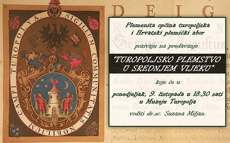 PREDAVANJE: Turopoljsko plemstvo u srednjem vijeku